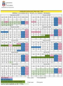 calendario escolar 09 10